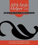 Apa Style Helper 5 0 Book