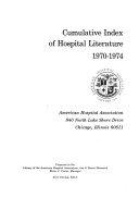 Hospital Literature Index