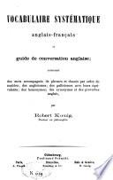 Vocabulaire systématique anglais-français et guide de conversation anglaise