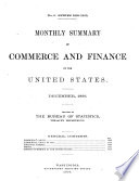 Monthly Summary of Commerce and Finance of the United States Book PDF