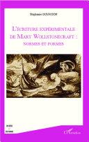 Pdf L'écriture expérimentale de Mary Wollstonecraft : normes et formes Telecharger