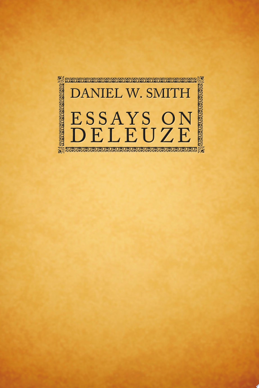 Essays on Deleuze