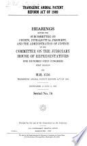 Transgenic Animal Patent Reform Act of 1989
