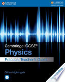 Books - New Cambridge Igcse� Physics Practical Teacher Guide With Cd-Rom | ISBN 9781316611081