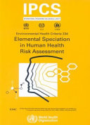 Elemental Speciation in Human Health Risk Assessment
