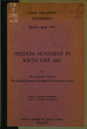 Freedom Movement In South East Asia