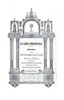 La Lira Christiana  Poesias     Segunda edicion   With an introduction by J  M  Orti y Lara