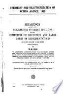 Oversight and Reauthorization of ACTION Agency, 1979