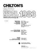 Chilton's Auto Service Manual ebook