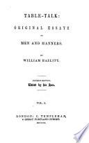 Table-talk; or, Original essays Pdf/ePub eBook