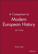 A Companion to Modern European History