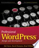 """Professional WordPress: Design and Development"" by Hal Stern, David Damstra, Brad Williams"