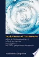 Totalitarismus und Transformation Book