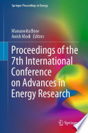 Proceedings Of The 7th International Conference On Advances In Energy Research Book PDF