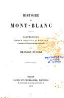 Histoire du Mont-Blanc