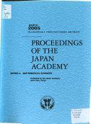 Proceedings of the Japan Academy