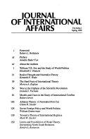 Journal of International Affairs