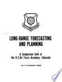 Long-range Forecasting and Planning
