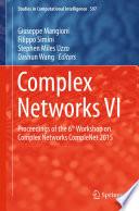 Complex Networks VI Book