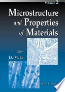 Microstructure and Properties of Materials Book