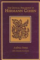 Critical Philosophy of Hermann Cohen, The Pdf/ePub eBook
