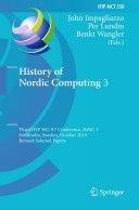 Pdf History of Nordic Computing 3 Telecharger