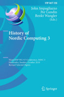 History of Nordic Computing 3