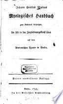 Johann Gottlieb Walters Myologisches Handbuch