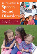 Introduction to Speech Sound Disorders Book