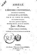 Abrege de l'histoire universelle, ancienne et moderne. a l'usage de la jeunesse, par M. le comte de Segur..