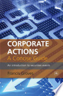 Corporate Actions   A Concise Guide Book