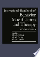 """International Handbook of Behavior Modification and Therapy: Second Edition"" by Alan S. Bellack, Michel Hersen, Alan E. Kazdin"