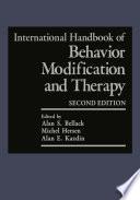 """International Handbook of Behavior Modification and Therapy: Second Edition"" by Alan S. Bellack, Michel Hersen, Alan E. Kazdin"
