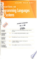 ACM Transactions on Programming Languages and Systems