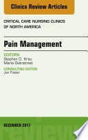 Pain Management  An Issue of Critical Nursing Clinics  E Book Book