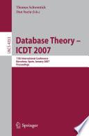 Database Theory     ICDT 2007