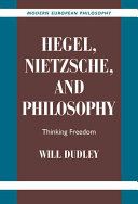 Hegel  Nietzsche  and Philosophy