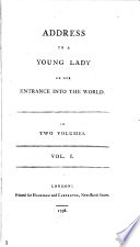Address To A Young Lady On Her Entrance Into The World