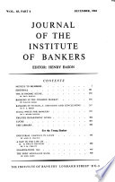 Journal of the Institute of Bankers