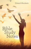 Bible Study Notes [Pdf/ePub] eBook