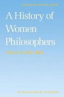 Pdf A History of Women Philosophers Telecharger