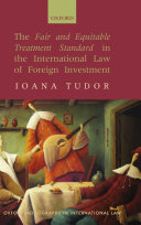 Pdf The Fair and Equitable Treatment Standard in the International Law of Foreign Investment Telecharger