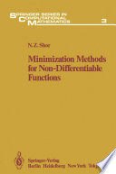 Minimization Methods for Non Differentiable Functions