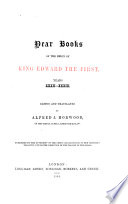 Dear Books of the Reign of King Edward the First