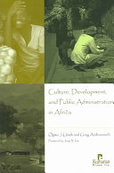 Culture Development And Public Administration In Africa
