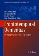Frontotemporal Dementias Book