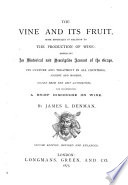 The Vine and Its Fruit     Second Edition  Revised and Enlarged