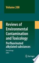 Reviews Of Environmental Contamination And Toxicology Volume 208 Book PDF