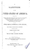 A Gazetteer of the United States of America     Book