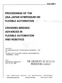 Proceedings of the Japan-U.S.A. Symposium on Flexible Automation